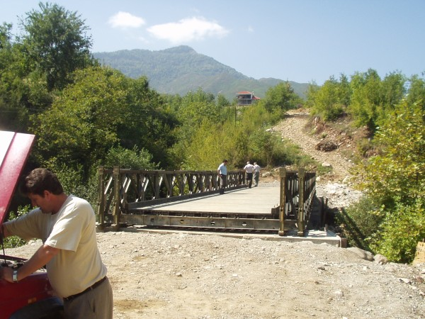 The Bailey bridge in Gurrë e Vogël. Photo: Bjoern Andersen