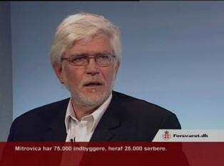 Niels Aadal Rasmussen under interview i Forsvarets TV