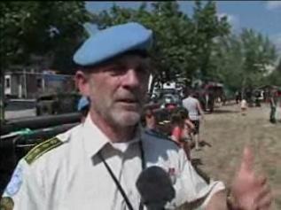 Kaj Vittrup. Still fra Forsvarets TV's Kosovo-udsendelse September 2005