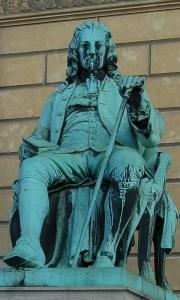 Ludvig Holberg. Statue af Theobald Stein. Foto: BA, 2006