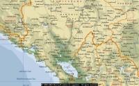 Microsoft kort af Montenegro (udsnit)