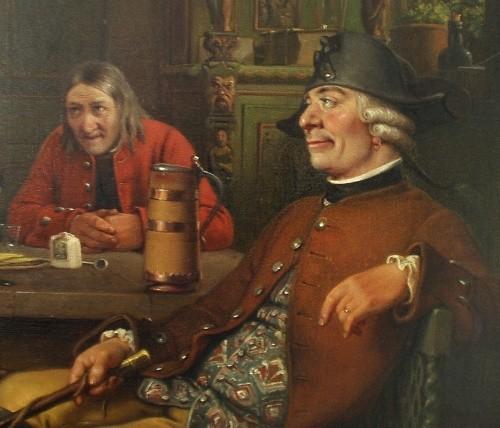 Udsnit af Marstrand's maleri af Erasmus Montanus: Ridefogeden. Foto: Bjørn Andersen